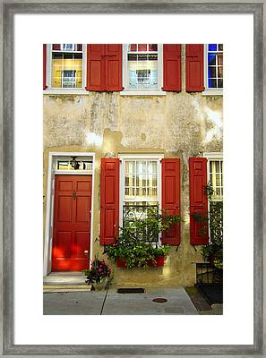 Charleston Charm Framed Print by Wendy Mogul