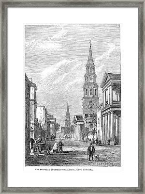 Charleston: Church, 1861 Framed Print by Granger