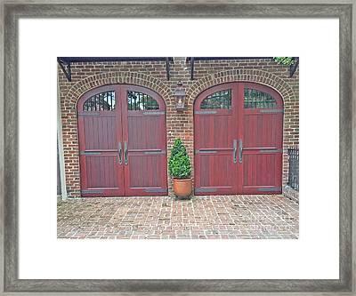 Charleston Doors Framed Print