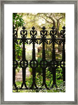 Charleston Fence Framed Print