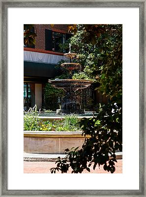 Charleston Fountain Framed Print by Gestalt Imagery