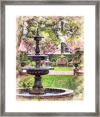 Charleston Fountain Framed Print