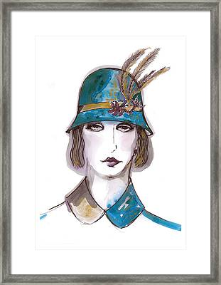 Charleston Girl Watercolor Framed Print by Marian Voicu
