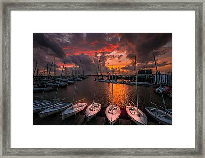 Framed Print featuring the photograph Charleston Harbor by RC Pics