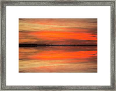 Framed Print featuring the photograph Charleston Harbor Sunset 05 by Jim Dollar