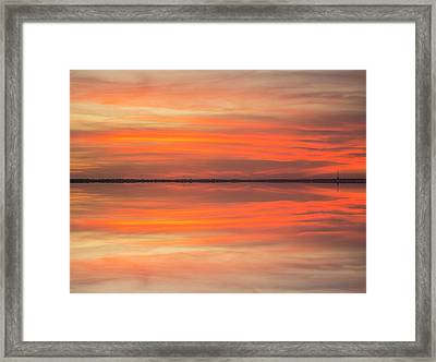 Framed Print featuring the photograph Charleston Harbor Sunset 2017 11 by Jim Dollar
