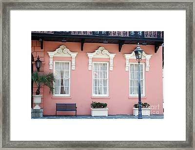 Charleston Historical District - The Mills House - Charleston Architecture  Framed Print