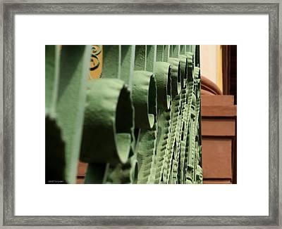 Charleston Iron Framed Print by Greg Simmons
