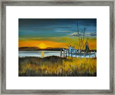 Framed Print featuring the painting Charleston Low Country by Lindsay Frost