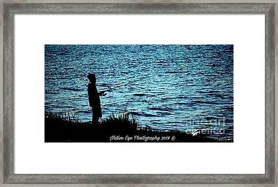 Charleston Morning Fishing Framed Print