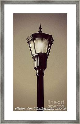 Charleston Morning Streetlight Framed Print