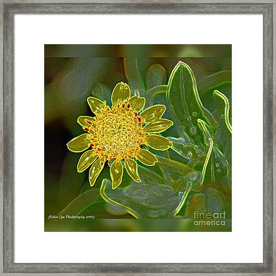 Charleston Neon Floral Framed Print