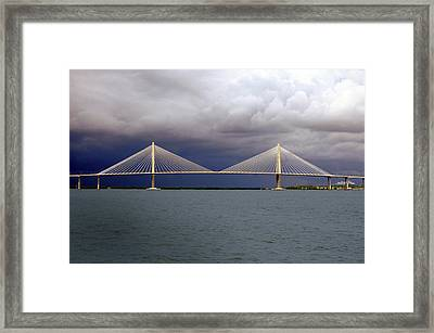 Charleston Ravenel Bridge Framed Print by Skip Willits