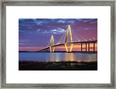 Charleston Sc Arthur Ravenel Jr Bridge Framed Print by Dave Allen