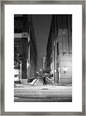 Charleston Sc Snow Vanishing Point Framed Print by Dustin K Ryan