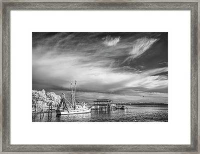 Charleston Shrimp Boat Framed Print