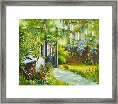 Charleston Side Garden Framed Print