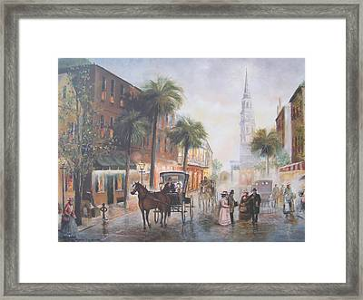 Charleston Somewhere In Time Framed Print by Charles Roy Smith