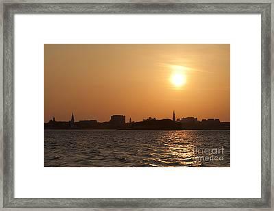 Charleston South Carolina Skyline Sunset Framed Print by Dustin K Ryan