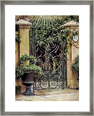 Charleston South Carolina Wrought Iron Gates Framed Print