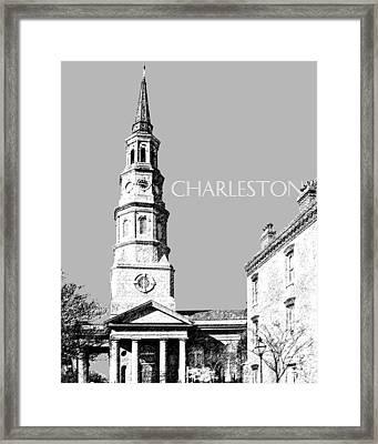 Charleston St. Phillips Church - Silver        Framed Print by DB Artist
