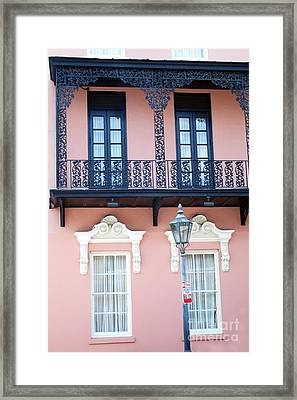 Charleston The Mills House Lace Balconies And Window Architecture - Charleston Historical District Framed Print