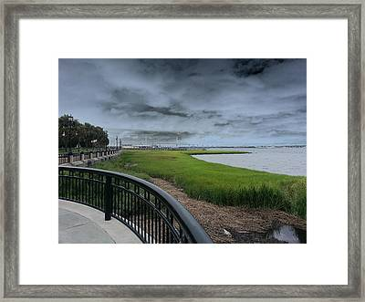Charleston Waterfront Framed Print by Chris Short
