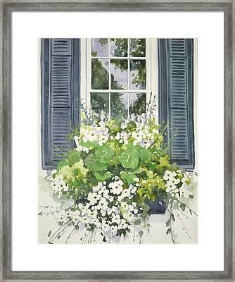 Charleston Windowbox Framed Print