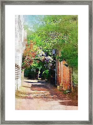 Framed Print featuring the photograph Charlestons Alley by Donna Bentley