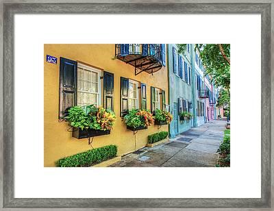 Charleston's Rainbow Row Framed Print