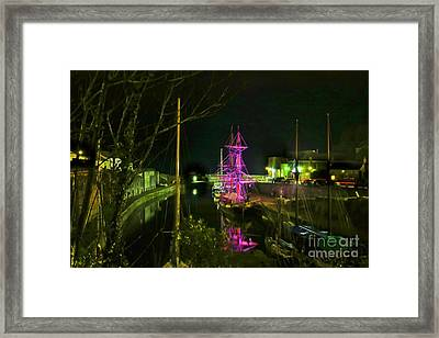 Charlestown At Night Framed Print