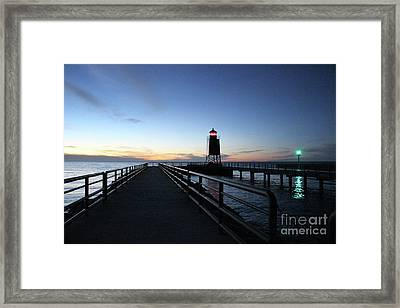 Charlevoix Light Tower Framed Print