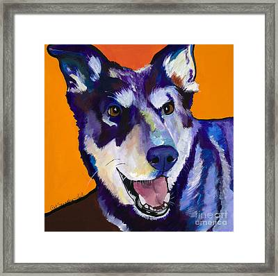 Charley Framed Print by Pat Saunders-White