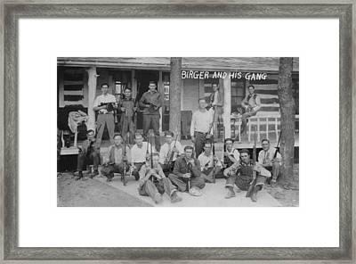 Charlie Birger 1881-april 19, 1928 Framed Print by Everett