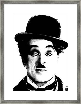 Charlie Chaplain Framed Print by Munir Alawi