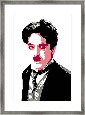 Charlie Chaplin Framed Print by DB Artist