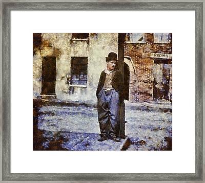 Charlie Chaplin Hollywood Legend Framed Print by Esoterica Art Agency
