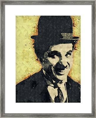 Charlie Chaplin Illustration Framed Print