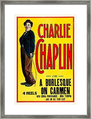 Charlie Chaplin In A Burlesque On Carmen 1915 Framed Print by Mountain Dreams