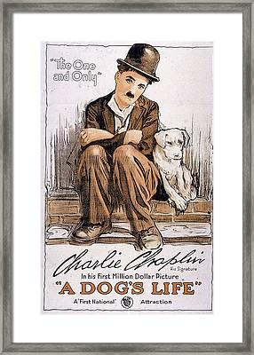 Charlie Chaplin In A Dog's Life 1918 Framed Print