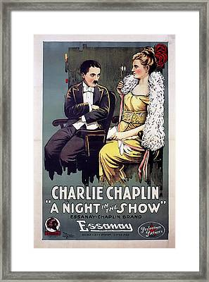 Charlie Chaplin In A Night In The Show 1915 Framed Print