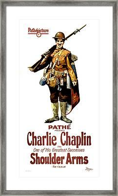 Charlie Chaplin In Shoulder Arms 1922 Framed Print