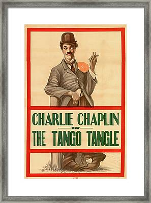 Charlie Chaplin In The Tango Tangle Framed Print