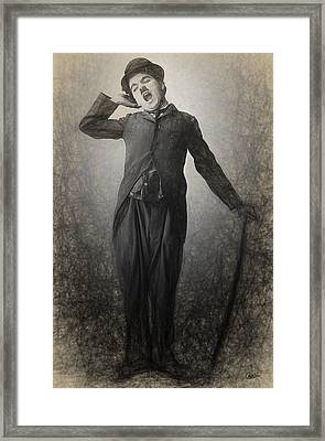 Chaplin Drawn Framed Print