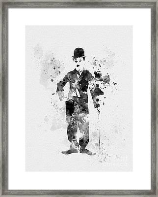 Charlie Chaplin Framed Print by Rebecca Jenkins