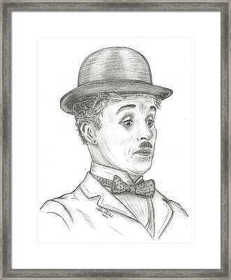 Charlie Chaplin Framed Print by Steven White