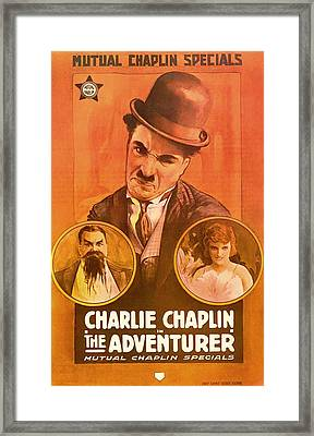 Charlie Chaplin - The Adventurer 1917 Framed Print by Mountain Dreams