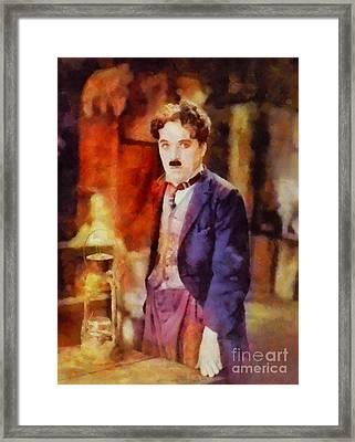 Charlie Chaplin, Vintage Hollywood Legend Framed Print by Sarah Kirk