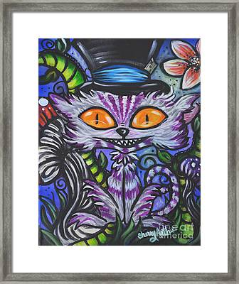 Charlie Cheshire Framed Print by Sherry Arthur
