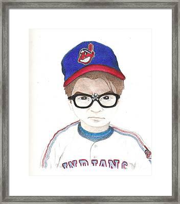 Charlie Sheen A.k.a Rick Vaughn Framed Print by Gerard  Schneider Jr